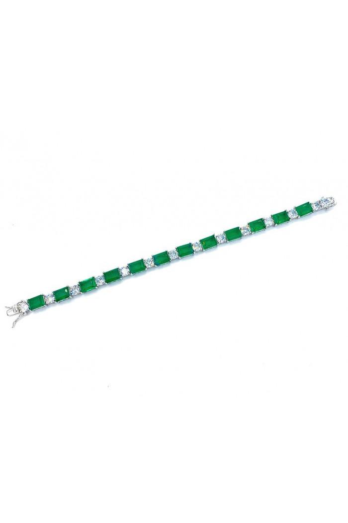 Emerald Dikdörtgen Bacchetta Vip Bileklik