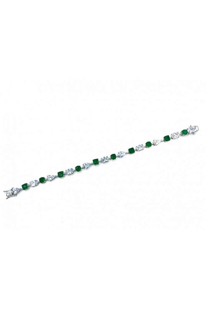 Emerald Kare Damla Vip Bileklik