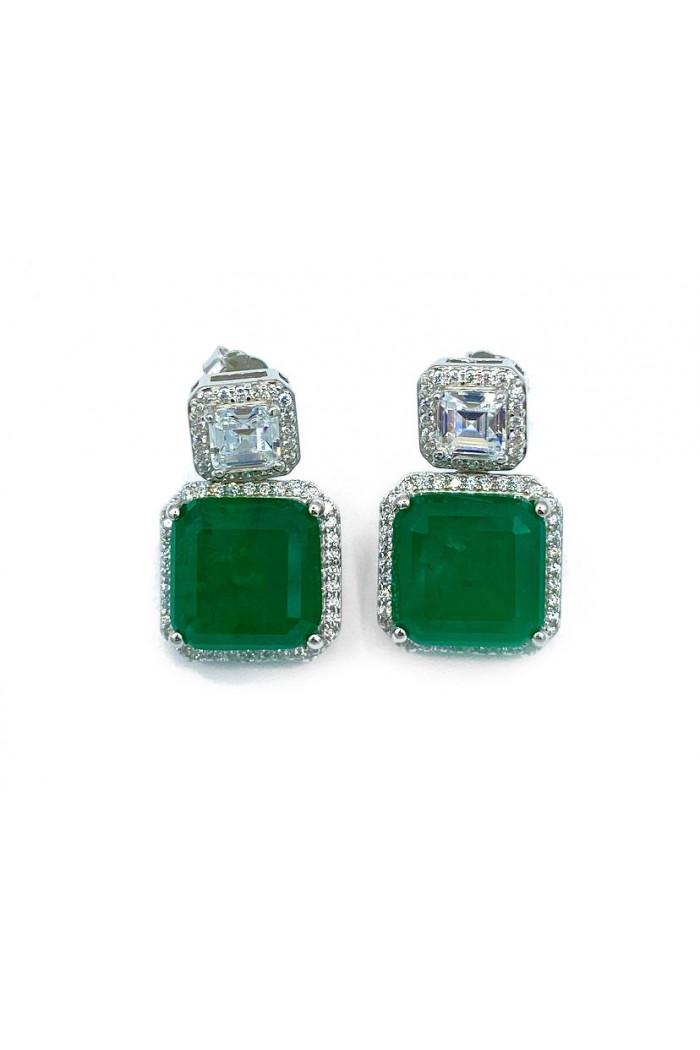 Emerald Sallantılı Baget Küpe