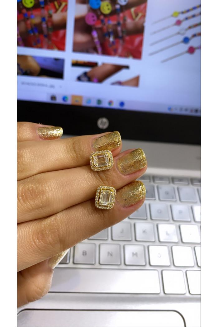 Gold Bacchetta Küpe