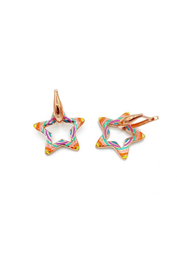 Rainbow Star Küpe
