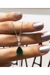 Emerald Damla Kolye